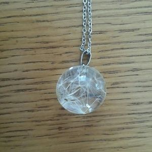 Jewelry - Real dandelion/wishball necklace on silver chain
